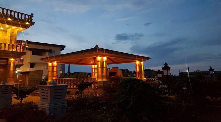 نورپردازی نمای ساختمان های ویلایی