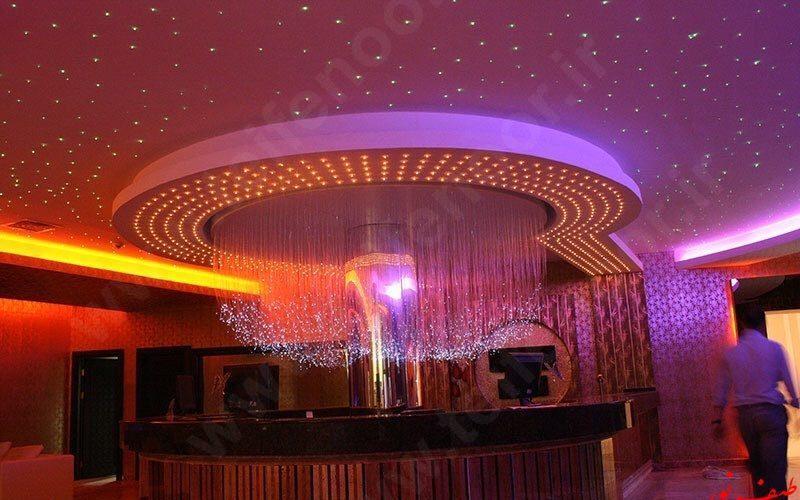 نورپردازی سقف تالار مجلل